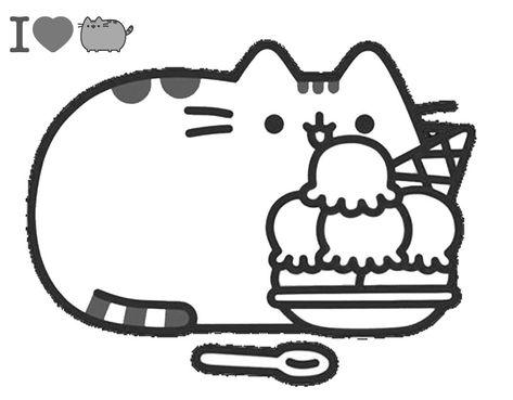 Dibujos De Pusheen Para Colorear Gatito Para Colorear