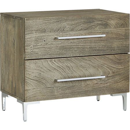 Link Grey Wash Acacia Nighstand Reviews With Images Wood