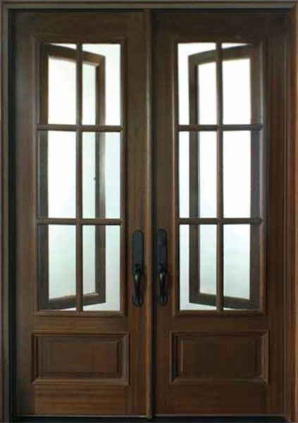 Mahogany Breezeport Tdl 6lt Double Door 2 1 4 Thick Double Doors Exterior Double Entry Doors Double Front Entry Doors