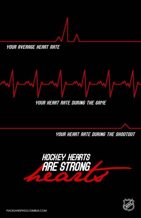 the heartbeat of a hockey fan