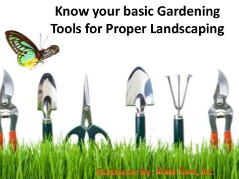 Know Your Basic Gardening Tools For Proper Landscaping By Steven