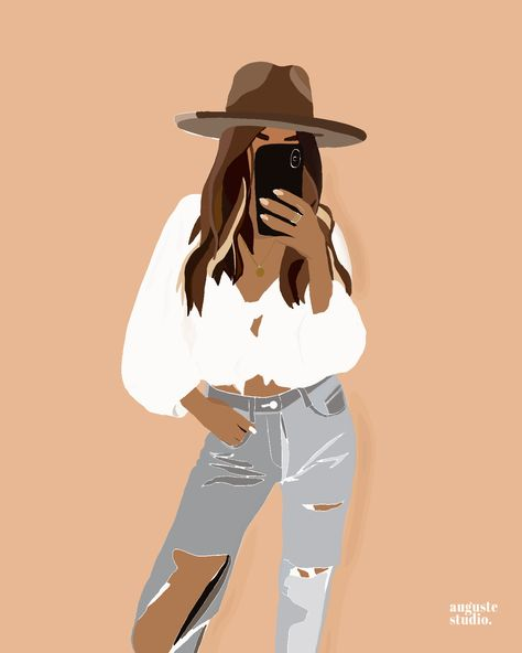 """Cowboy girl, girl in a hat"" by Jacob Khaov 
