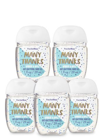 Many Thanks Pocketbac Hand Sanitizers 5 Pack Body Works Bath