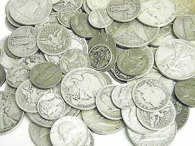 8 Ounces 1//2 POUND 90/% Silver Coins Half Dollars Quarters Dimes