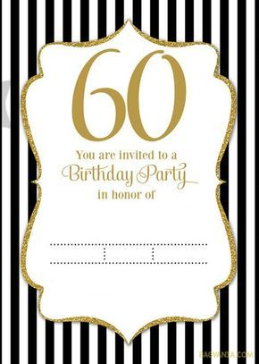 Free Printable 60th Birthday Invitation Templates Birthday