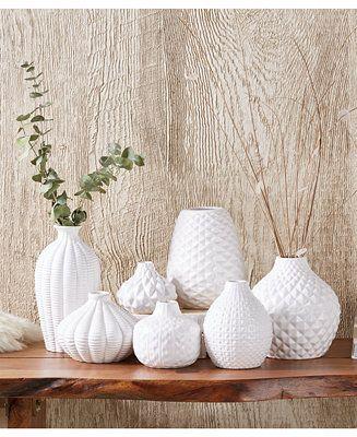Two S Company Artisan Carvings Bud Vases Set Of 7 Reviews Vases Home Decor Macy S Bud Vases Vase Set Vase