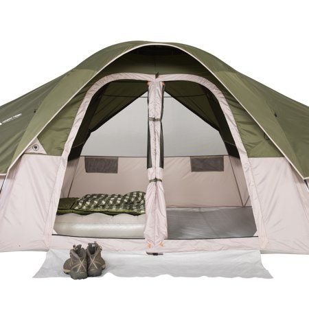 Ozark Trail 8 Person 2 Room Modified Dome Tent With Roll Back Fly Walmart Com Dome Tent Tent Ozark Trail