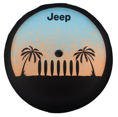 Jl Wrangler Surf Palm Tree Jeep Tire Cover Jeep Tire Cover