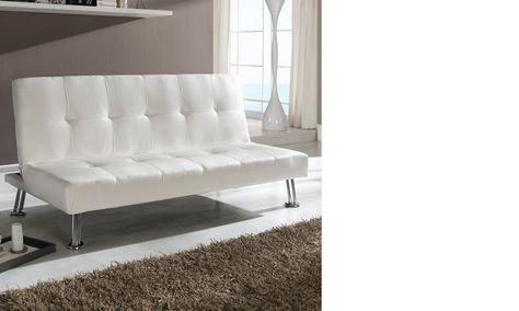 Canape Banquette Blanc Design En Pu Et Pieds Chromes Argos