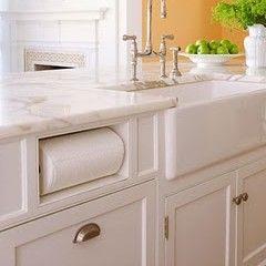 Paper towel holder recessed cabinet