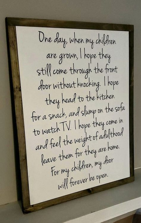 One Day When My Children Are Grown 20in by 26in | Etsy