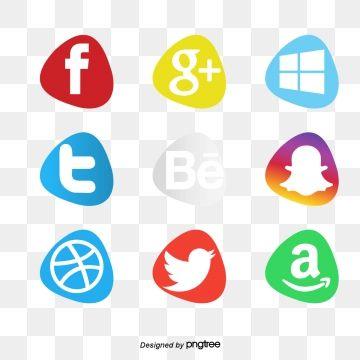 مجموعة ملصقات وسائل التواصل الاجتماعي وسائل التواصل الاجتماعي المرسومة أيقونات وسائل التواصل الاجتماعي وسائل التواصل الاجتماعي Png والمتجهات للتحميل مجانا Social Media Icons Media Icon Social Media Logos