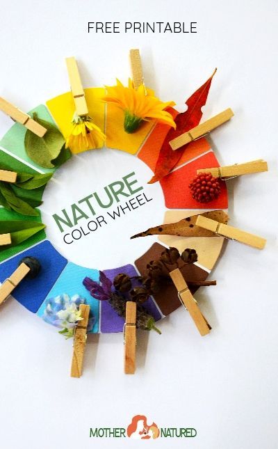The printable Nature Color and Nature Colour Wheel your kids will LOVE!