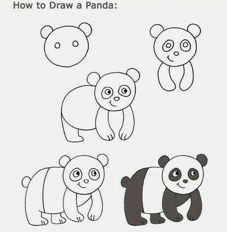 Aprende A Dibujar Un Oso Panda Fácil Y Sencillo En 2019