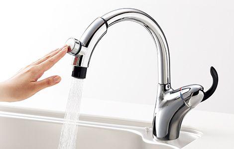 タッチスイッチタイプ 機能から選ぶ キッチン用水栓金具 商品を