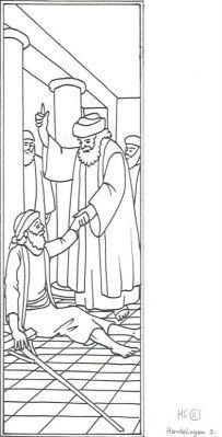 Petrus En Johannes Genezen Een Verlamde Een Verlamde Man Bij De