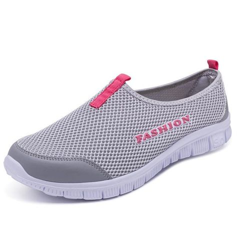 more photos bbcbd 359c5 KHTAA Plus Size Women Sneakers Casual Autumn Flat Shoes Mesh Female Slip On  Loafers Cheap Shoe