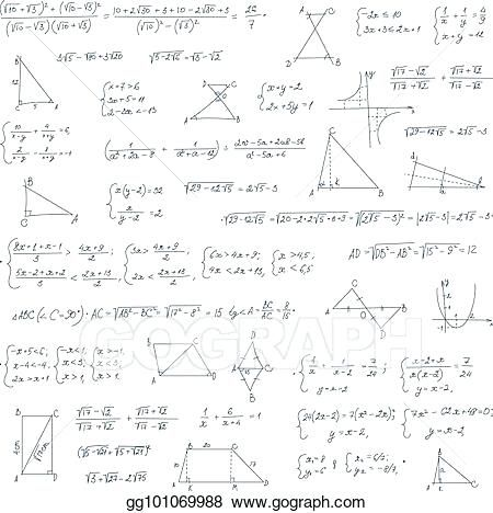 Mathematical Equation Hand Drawn Mathematical Equation With