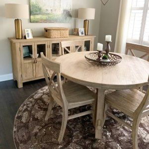 Toscana Round Extending Dining Table Seadrift Pottery Barn Dining Table Extendable Dining Table Table