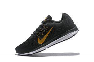 Mens Sneakers Nike Air Zoom Winflo 5 Black Gold White AA7406