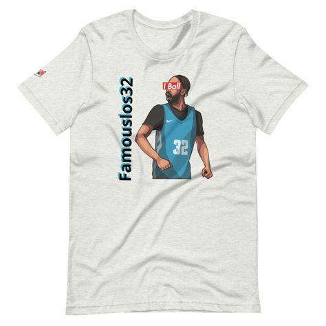 HoopLeague I Ball Famouslos32 Short-Sleeve T-Shirt - Ash / M