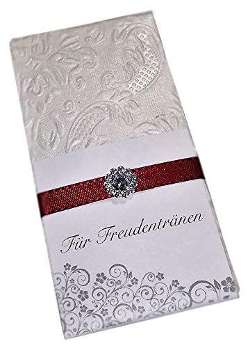 10 Taschentucher Fur Freudentranen Auf Deiner Hochzeit Bordeaux Rot 10 X 1 Taschentuch In Liebevoll Verzierter Tasc Hochzeit Marchenhochzeit Hochzeit Kutsche