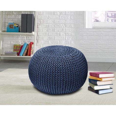 Sensational Chair Seat Round Rest Footstool Urban Knit Pouf Footrest Andrewgaddart Wooden Chair Designs For Living Room Andrewgaddartcom