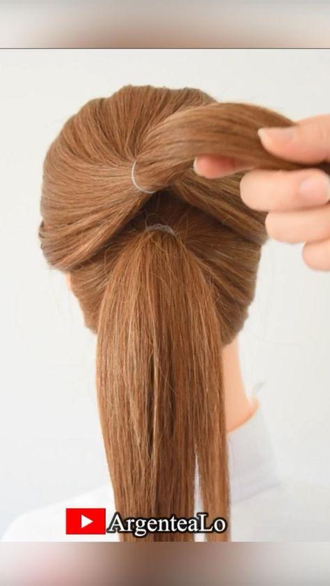 Super Easy Bun Hairstyle for medium & shorts hair 🤎