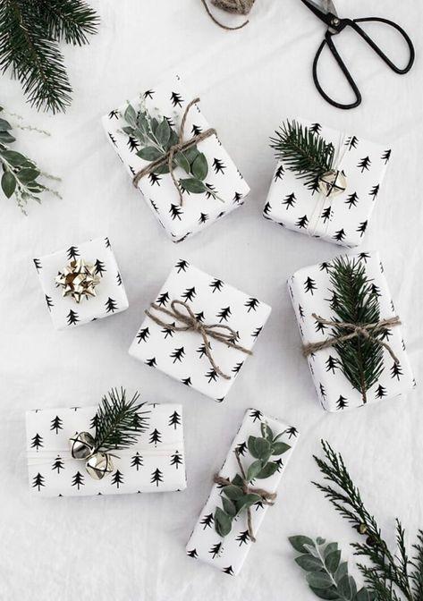 Winter Gift Wrap Ideas + Free Printable Gift Tags
