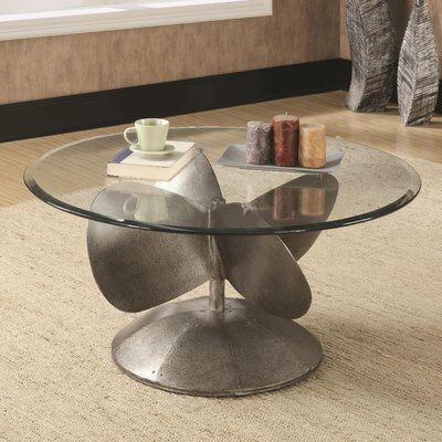 Rosita 2 Piece Coffee Table Set Glass Top Coffee Table Round Metal Coffee Table Coffee Table Grey