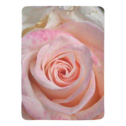 Pink Summer Rose Flower Close Up Baby Blanket Chic Design Idea Diy Elegant Beautiful Stylish Modern Exclusive Trendy Flower Close Up Summer Rose Rose Flower