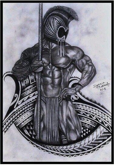 Hawaiian Warrior Drawing : hawaiian, warrior, drawing, Hawaiian, Warrior, Tribal, #hawaiiantattoos, Tattoo,, Tattoos,