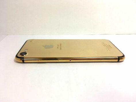 meet 47fc4 d61fe Custom 24k Gold plated iPhone 7 32GB (AT&T) Cricket Wireless- No ...
