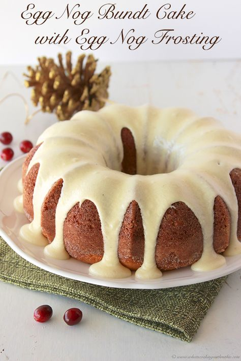 Eggnog Bundt Cake with Eggnog Frosting Recipe - Cooking With RuthieYou can find Christmas dessert and more on our website.Eggnog Bundt Cake with Eggnog Frosting Recipe - Cooking Wi. Eggnog Frosting Recipe, Eggnog Recipe, Frosting Recipes, Cake Recipes, Egg Nog Bundt Cake Recipe, Recipes Using Eggnog, Eggnog Pound Cake Recipe, Eggnog Cake Recipe Using Cake Mix, Egg Nog Dessert Recipe