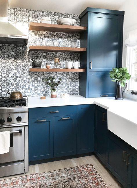 Pin By Rebecca Velasco On J Blue Kitchen Designs Kitchen Design Kitchen Interior