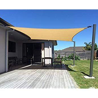 Toldo de Protecci/ón Solar Triangular Toldo para Jard/ín Impermeable Sombrilla 95/% UV Bloque Sombra de Vela OldPAPA Vela de Parasol