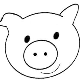 Best Photos Of Pig Face Coloring Page Pig Face Clip Art Black Pig