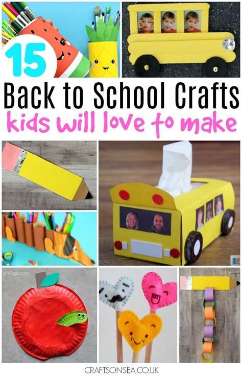 Back To School Crafts Kids Will Love To Make Childcare Crafts