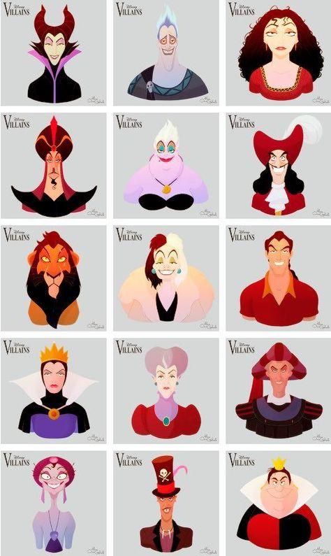 """""""Disney Villains"""" by Mario Oscar Gabriele"""