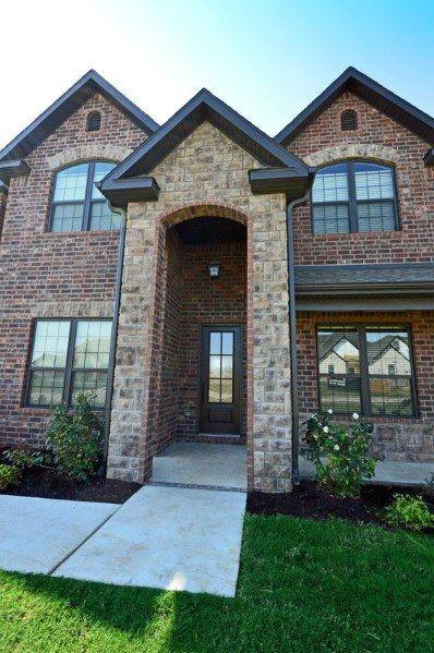 Top 50 Best Brick And Stone Exterior Ideas Cladding Designs Brick Exterior House Stone Exterior Houses Cladding Design
