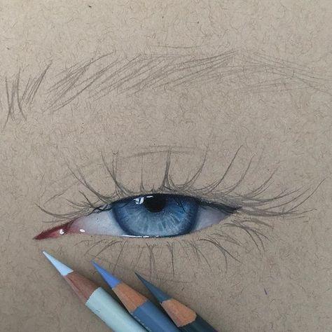 Eye Art, Colorful Drawings, Prismacolor Art, Cool Art Drawings, Realistic Art, Abstract Canvas Art, Eyeball Art, Color Pencil Art, Egyptian Drawings