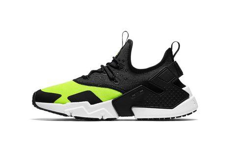 e5089e3aac4 Nike s Air Huarache Drift Gets the Black   Volt Treatment