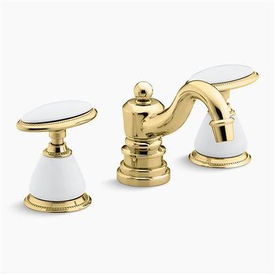 Kohler Co Bathroom Sink Faucet 280 9b Antique Widespread Lavatory