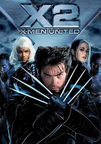 X2 X Men United 2003 For Rent On Dvd And Blu Ray Dvd Netflix Superhero Movies Man Movies X Men