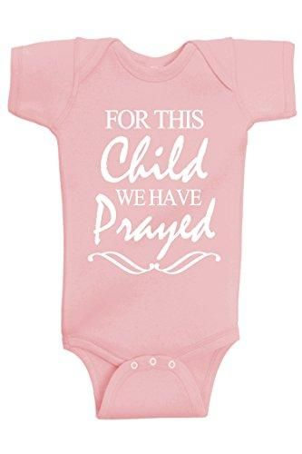 For This Child We Have Prayed Onsies For Girls These Christian Onsies For Little Girls Are Cute One Piece Kids Clothes Sale Kids Outfits Handmade Baby Clothes