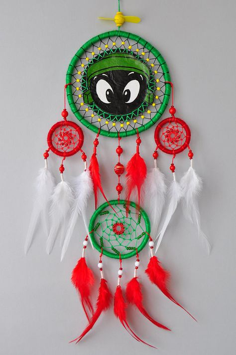 Baby Marvin the Martian Gift Decor Dream Catcher Wall Hanging Dreamcatcher Looney Tunes Merrie Melodies Unique Home Nursery Bedroom Decor