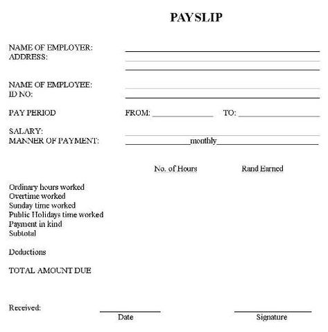 Image result for contoh payslip kakitangan kerajaan payslip - fake payslip template