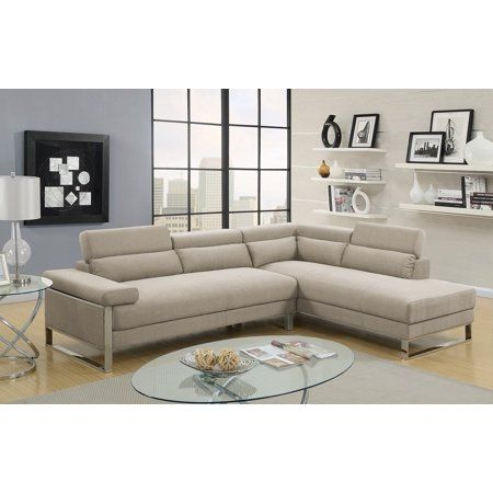 Classic Modern Contemporary Sectional Glossy Polyfiber 2pcs Set Sofa And Chaise Stainless Steel Base B Reclining Sectional Sectional Sofa Upholstered Sectional