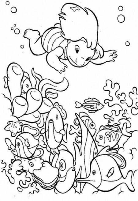 Under The Sea Creatures Coloring Pages And Free Colouring Pictures To Print Stitch Coloring Pages Ocean Coloring Pages Disney Coloring Pages