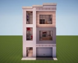 Poprell] Modern Townhouse #1 Minecraft Map & Project | Minecraft